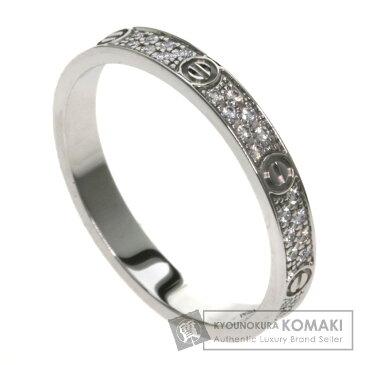 カルティエ ラブリング パヴェダイヤモンド SM B4218200 リング・指輪 K18ホワイトゴールド レディース 【中古】【CARTIER】