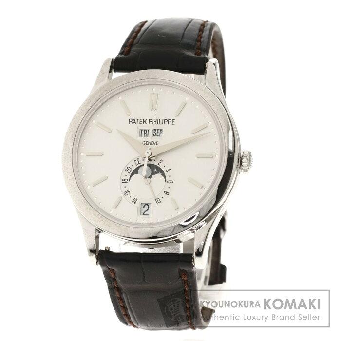 パテックフィリップ 5396G-011 マニュアルカレンダー 腕時計 K18ホワイトゴールド/革 メンズ 【中古】【PATEK PHILIPPE】
