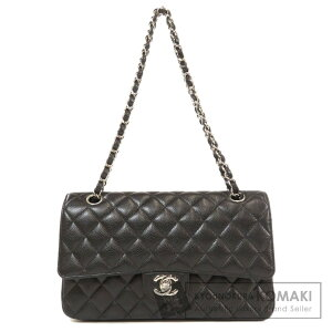 Chanel Chain Shoulder Silver Hardware Sac à bandoulière Caviar Skin Femme [Occasion] [CHANEL]