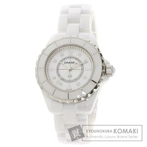 Chanel H2422 J12 33mm 8P Diamond Watch Stainless Steel/Ceramic Ladies [Used] [CHANEL]