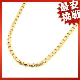 CARTIER tank chain necklace K18 gold ladies