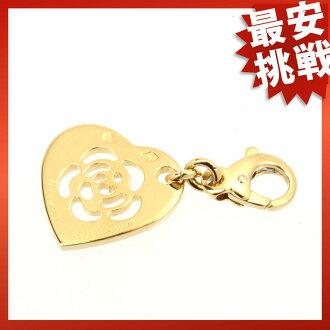 CHANEL Camellia necklace pendants K18 gold ladies