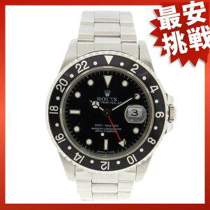 ROLEX【ロレックス】16700オイスターパーペチュアルデイトGMTマスター1腕時計SSメンズ【中古】【cabcaida】