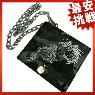 PRADAFUMO TESSUTO TATTO 2 fold wallet ( purses and ) nylon x leather men's