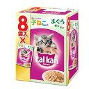 (まとめ)カルカン パウチ 12ヶ月までの子ねこ用 まぐろ 70g 8袋パック (ペット用品・猫フード)【×20セット】