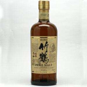 竹鶴 21年 ピュアモルト 700ml ニッカウイスキー(箱なし)