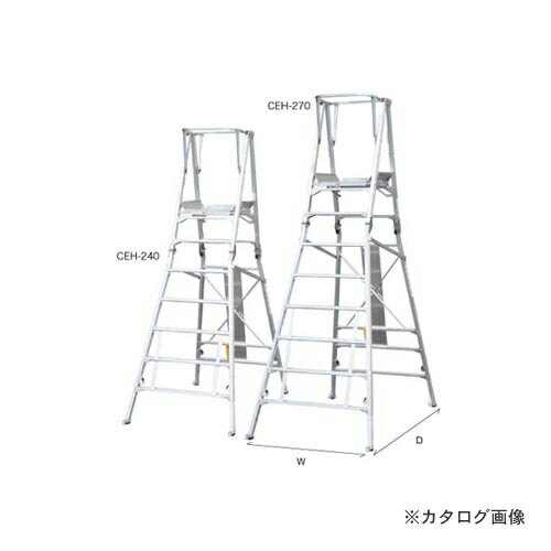 【直送品】ナカオ コンスタワー(作業用踏台) CEH-240:KanamonoYaSan  KYS