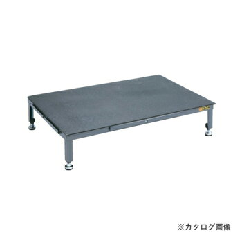 【直送品】サカエSAKAE足踏台(すべり止めマット付)連結タイプ高床用SA-0960HN