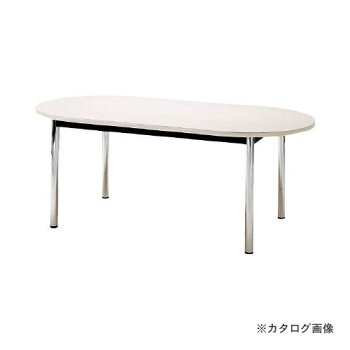 TOKIOミーティングテーブル楕円型1800×900mmホワイトTC-1890R-W