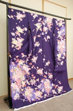 振袖 furi-10030203-ban 濃紫 最高の振袖で思い出にのこる成人式を!【楽ギフ_包装】
