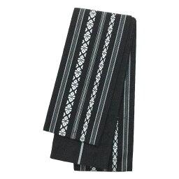 角帯 綿 献上柄 黒 ブラック 浴衣 着物