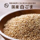 【送料無料】香川県産煎り白ごま(70g/無添加)四国地方で農薬不使用で育てられた、栄養も香りも高い、自給率0.1%の幻の日本産ごまいつもの料理に、サッと栄養の一振り。 焙煎・黒胡麻・黒ゴマ・擦りごま 国産