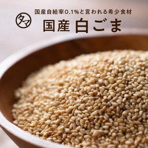 【送料無料】香川県産煎り白ごま(70g/無添加)四国地方で農薬不使用で育てられた、栄養も香りも高い、自給率0.1%の幻の日本産ごまいつもの料理に、サッと栄養の一振り。|焙煎・黒胡麻・黒ゴマ・擦りごま 国産