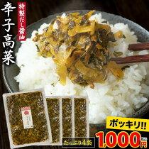 九州産高菜使用九州たかなたっぷり4袋(600g入1袋150g)【送料無料】《7-14営業日以内に出荷予定(土日祝日除く)》