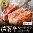 牛肉 A5等級 佐賀牛 黒毛和牛 サーロインステーキ 艶さしプレミアム 送料無料 お取り寄せ グルメ 200g×2枚