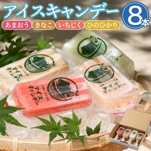 【送料無料】 柳川育ちのアイスキャンディー 8本(4種×2本)