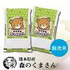 【無洗米】(28年産)熊本県産森のくまさん5kg×2【10kg】(森のくまさん)(米)(お米)(おにぎらず)(送料無料)