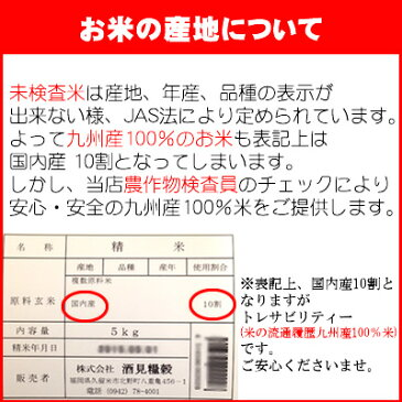 (送料無料)(29年産入り)九州うまか米5kg×2袋【10kg】(2月・6月・7月・8月度月間優良ショップ受賞)