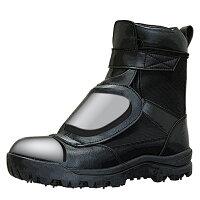荘快堂甲ガード付スパイクシューズRV-202G黒24.5-30cm編上式半長靴鋼製先芯森林作業斜面作業
