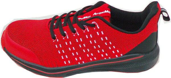 福山ゴムアローマックス#93レッド24.5-28cmセーフティ安全靴(ワイド設計4E)通気鋼製先芯