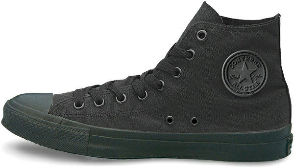 10P28oct13 converse canvas all star HI Black monochrome 32060187
