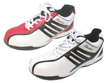 (つま先保護靴)ファントムライトF−160 ホワイト ボルドー  弘進ゴム 24cm−28cm