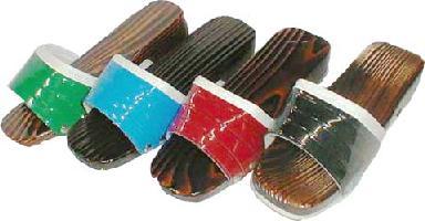 10P28oct13 Cedar wooden clogs.