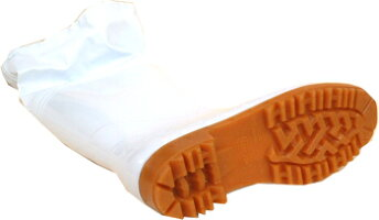 ゾナG3耐油カバー付き長靴白22.5cm-29cm弘進ゴム製