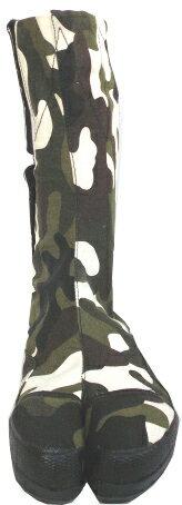荘快堂M-3001高所用股付安全足袋迷彩柄鋼製先芯24.5-28cm