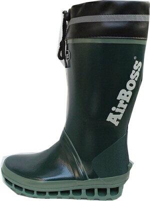 福山ゴムエアボス020モスグリーン紳士長靴(完全防水)ブーツ25.0-28.5cm【キャッシュレス5%還元】