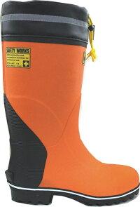 弘進ゴム安全長靴セーフティーブーツDB-3120オレンジKOHSHIN23-30cm(メンズ鋼製先芯入)カバー付き安全長靴
