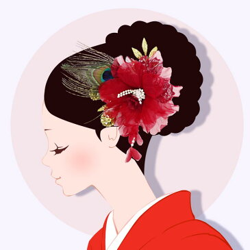 髪飾り 訳あり アウトレット 成人式 振袖 赤 孔雀 和花 小花 卒業式 袴 髪留め フラワー 着物 浴衣 披露宴 結婚式 謝恩会