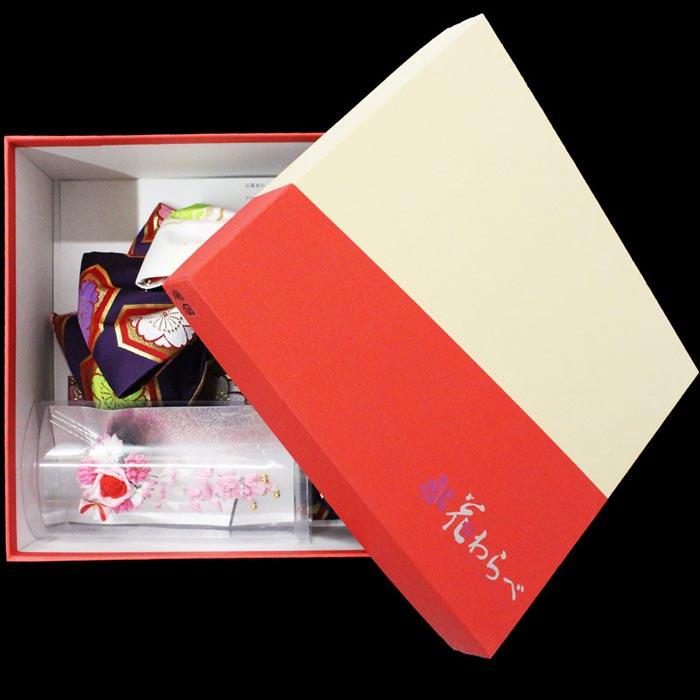 【あす楽】七五三 作り帯 結び帯 御祝帯 7歳 女の子 紫色 亀甲桜柄 飾り付き 花わらべ 日本製 着物 晴れ着 ひな祭り 桃の節句 お正月