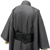 ワンタッチ帯メンズブラック格子調浴衣に最適簡単装着作り帯結び帯紳士付け帯浴衣ゆかた着物男性和服和装小物男のファッション日本製