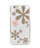 iPhone8ケース・iPhone8カバー(iPhone8ケース・カバー)【アイフォン6/かわいい・パターン・花・アスタリスク/クリア・ポリカーボネート・スマホケース/カバー】