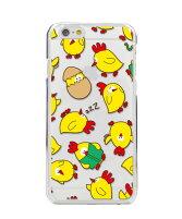 iPhone8ケース・iPhone8カバー(iPhone8ケース・カバー)【アイフォン6/かわいい・パターン・にわとり・ひよこ/クリア・ポリカーボネート・スマホケース/カバー】
