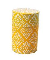 【送料無料】かわいいおしゃれ北欧風茶筒総柄(小)オレンジ