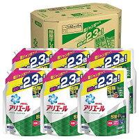【ケース販売】アリエール液体部屋干し用洗濯洗剤詰め替え超ジャンボ1.62kg×6個
