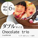 """【7〜8人向け】""""写真プレート付き""""三種のチョコを使った"""