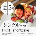 """【5〜6人向け】""""写真プレート付き""""7種類の果物をふんだんに..."""