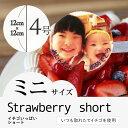 """【2〜4人向け】""""写真プレート付き""""人気のイチゴをたっぷり使..."""