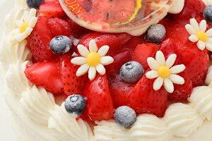 """写真ケーキ人気のイチゴをたっぷり使用した""""イチゴいっぱいショート""""5号【5〜6人向け】プリントケーキキャラクターケーキ写真プレート誕生日スイーツお返しお祝い令和写真プリントギフトプレゼント"""