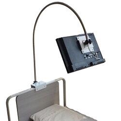 介護ベッド用テレビ「アーチ」:16インチテレビ・ベッドホルダー取付タイプ