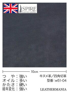 牛ヌメ革【5×21cm】ブライドルレザー/ネイビー
