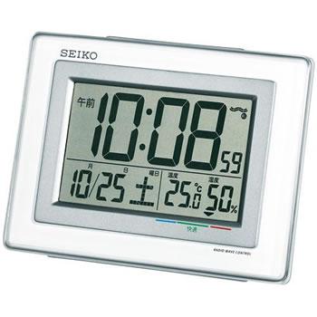セイコー【SEIKO】電波目覚まし時計 SQ686W★【温度・湿度・快適度表示】