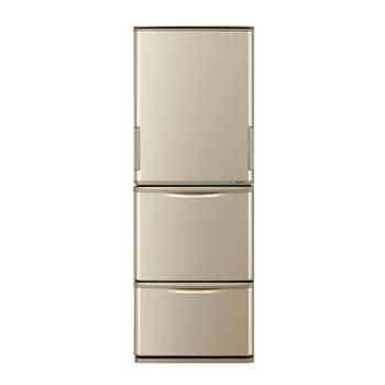 シャープ【代引・日時指定不可】350L どっちもドア 冷蔵庫 SJ-W352D-N(ゴールド系)★【SJW352DN】