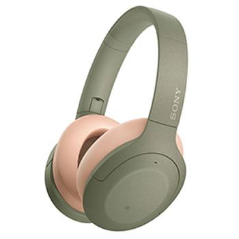 ソニー【SONY】h.ear on 3 ノイキャンWirelessヘッドセット アッシュグリーン WH-H910N-G★【ワイヤレスヘッドホン】