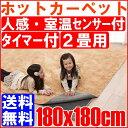 【クーポン利用で350円OFF】【送料無料】人感・室温センサー付ホットカーペット 本体 2畳用(180x180cm) ホットカーペット 電気マット 床暖房カーペット アイリスオーヤマ JSHC-2H5