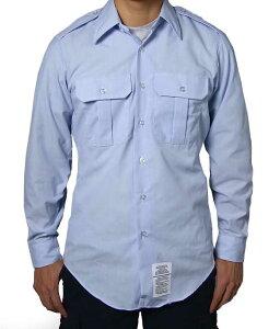 アメリカ空軍 USAF エアフォース メンズ 長袖ドレスシャツ(ニアニュー)AF−LS−N2-