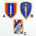 US.ミリタリー、カラー部隊章(新品)BRANCH−CN3A